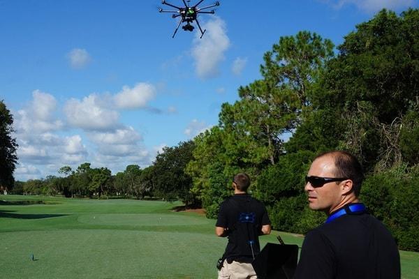 Pilotage de drones de course avec casque de réalité virtuelle
