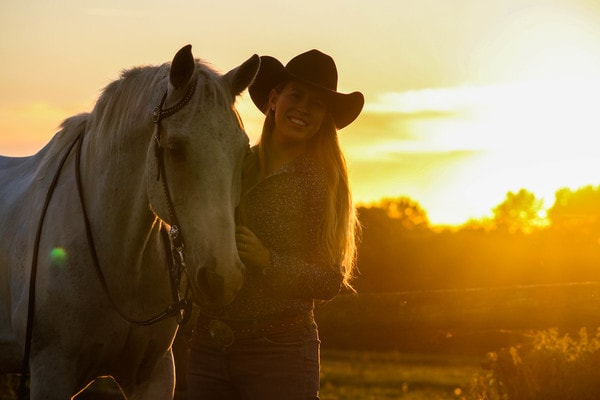 Balade à cheval western